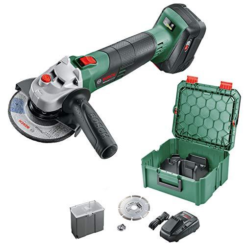 Bosch Home and Garden 06033D9003 Amoladora Angular (1 batería, Sistema de 18V, diámetro de Disco: 125mm, en Caja)