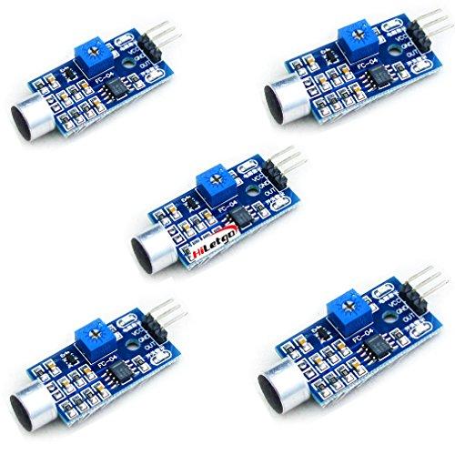 HiLetgo 5個セット サウンドセンサーモジュール声検出声コントロールスイッチ [並行輸入品]