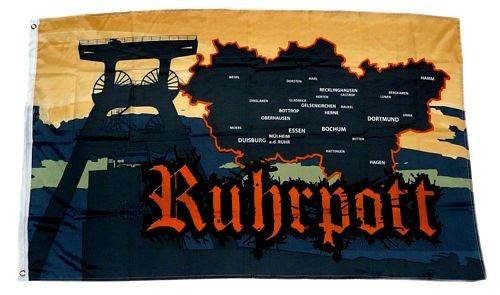 Fahne/Flagge Ruhrpott Karte NEU 90 x 150 cm