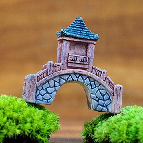 Bazaar mini hars paviljoen brug micro landschap tuin DIY decoratie