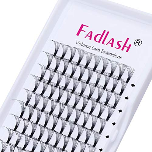 Russian Volume Lashes 10D Short Stem 0.10 Thickness C Curl 15mm Premade Russian Lashes Pre Made Fans Eyelash Extensions Russian Lashes(10D-0.10-c-15mm)
