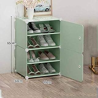 JJZXT Anti-poussière Chaussures Rack Multi-Couche de Chaussures en Plastique Cabinet Moderne Simple Assemblée Économie Acc...