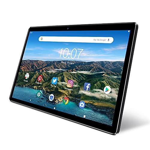 Android Tablet 10 inch, PRITOM M10, 2 GB RAM, 32 GB Android 9.0 Tablet, 10.1 inch IPS HD Display, GPS, FM, Quad-Core Processor, Wi-Fi (M10 Black)