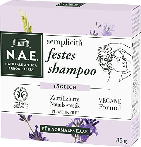 N.A.E. Naturale Antica Erboristeria semplicità festes Shampoo, COSMOS Organic zertifiziert durch IONC (BDIH) & Vegane Formel, 1er Pack (1 x 85 g)
