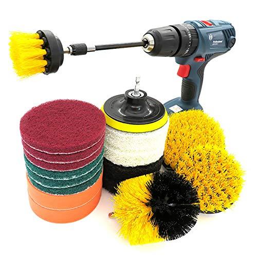 Brocha Cepillo de perforación Scrub Pads 18 piezas Power Scrubber Kit de limpieza - Limpiador de todo uso para la limpieza para hundimientos de azulejos ( Color : Multi-colored , Size : Free size )