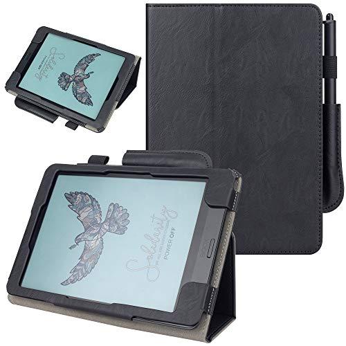 """VOVIPO PU Lederen Folio Cover Beschermende Smart Cases met Auto Sleep/Wake Compatiable met Book Nova 3 Color & BOOX Nova3 7.8 """"& BOOX Nova2 7.8"""" & BOOX Nova Pro 7.8"""" E-Reader-(zwart)"""