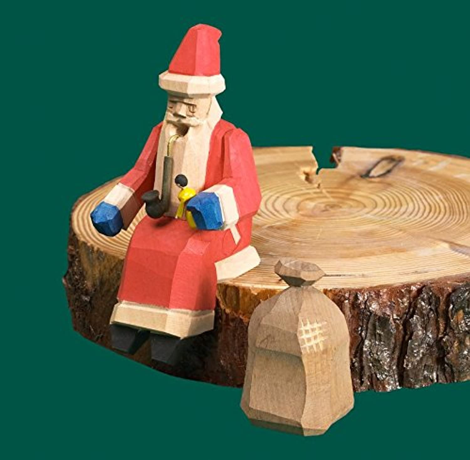 Incense man Santa Claus edge stool means carved 13cm ore mountains NEW