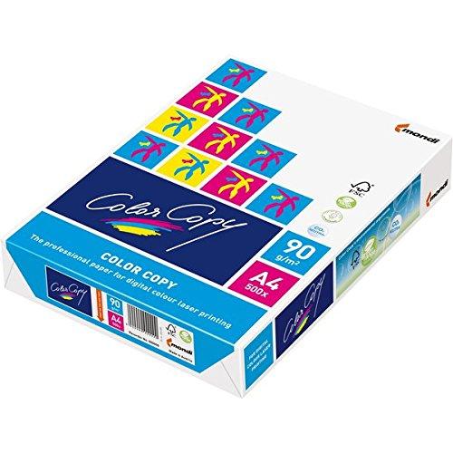 Mondi 2381210051 Farbkopierpapier/DIN A4, geriest 120 g/qm, Inhalt 500 Pack, weiß
