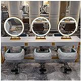 Desktop klappbaren tragbaren Kosmetikspiegel Friseursalon Hair Salon gewidmet Haar mit Lampe Doppelseitiger Spiegel, Professional Photo Studio Desktop Make-up-Spiegel, E-Sided Tabletop Spiegel ,. Haus