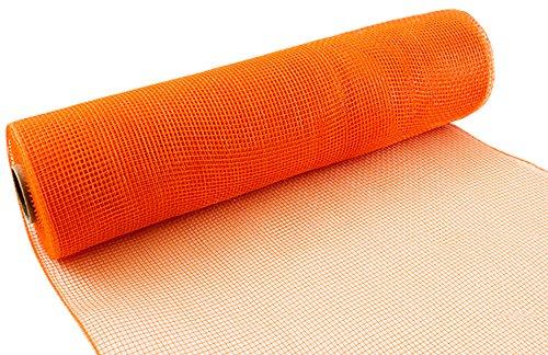 Eleganza Nr. 04Deco Mesh, orange, 25cm x 9,1m