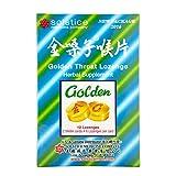 Golden Throat Lozenge (Honeysuckle Original Flavor)(Throat, Immune, Respiratory Support)(12 Lozenges)(1 Box)