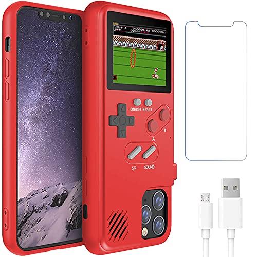 Gameboy Schutzhülle für iPhone 12/12 Pro, Handheld Retro 36 klassische Spiele, Farbvideodisplay Spielhülle für iPhone, kratzfeste, stoßfeste Handy-Schutzhülle für iPhone