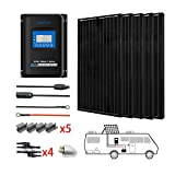 ACOPOWER 500 Watts 12 Volts Monocrystalline Panel Solar RV Kits 5PCS 100 Watts with 40A MPPT LCD Charge Controller/Mounting...