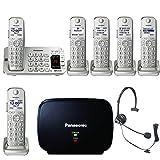 Panasonic KX-TGE475S Link2Cell Bluetooth Phone w/6 Handsets & Extender Bundle