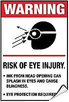 ビンテージの外観の再現、必要な目の怪我の警告の危険性、眼の保護が必要、錫の壁サイン