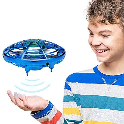GEYUEYA Home UFO Mini Drohne, UFO Fliegendes Spielzeug Handgesteuerter RC Drone Mini Infrarot Induktions Untertasse Drohne mit LED, Spielzeug Geschenke für Jungen Mädchen