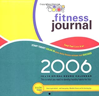 Streaming Colors Fitness Journal 2006 Compact Wall Calendar: Color in Your Daily Fitness Actions And Succeed