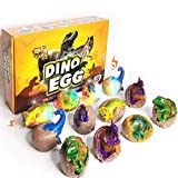 TEEMEE Dinosaur Toys, 12 Pack Dinosaur Egg kit Soft Light with Roar for Kids Gift, STEM Kids Activities Toys, Educational Dino Toys, Funny Dinosaur Digging Gift for Age 3-5 Boys & Girls