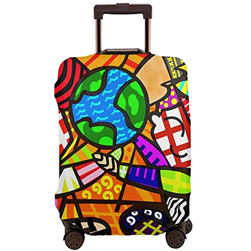 Kinsky Day Romero Britto - Custodia protettiva per valigia, protegge il tuo bagaglio da polvere e graffi., bianco, 80