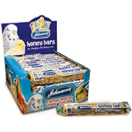 Budgie & Parakeet Honey Bars Bird Treat 35g – Johnsons (TP)(JBHB)(FULL BOX OF 40)