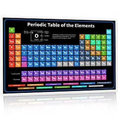 EXCEPTIONAL! Updated 2020 Periodic Table makes it easier to see all 118 elements in one spot and how they correspond to all of the other elements ... it's never been easier. EXTREMELY EASY TO USE! Bright, interesting colors makes it so you can easily...