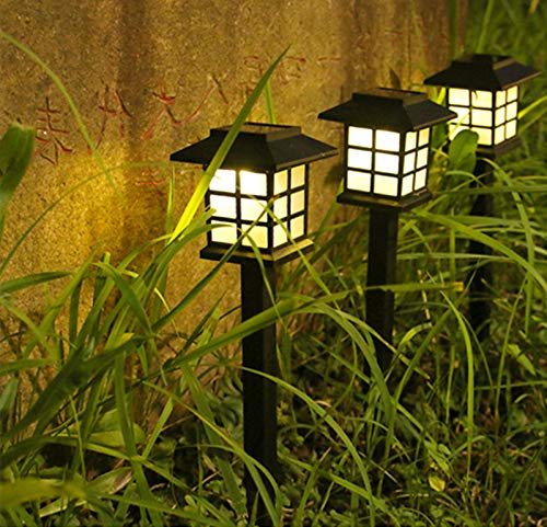 haiba Outdoor solar garden night light LED household small house lawn light garden light small palace light