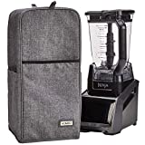 HOMEST Blender Dust Cover with Accessory Pocket Compatible with Ninja Foodi, Grey (Patent Pending)
