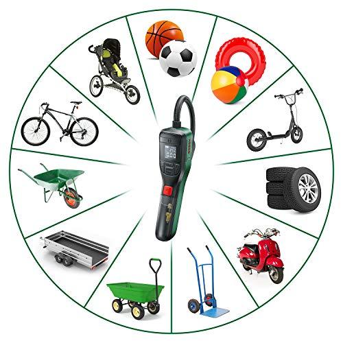 Bosch Home and Garden 603947000 elektrische Luftpumpe Mini Kompressor EasyPump (3,0 Ah Akku, 3,6 Volt, Autostop-Funktion, 150 PSI, 10,3 bar, LED, über USB-C® wiederaufladbar, in Karton) - 3