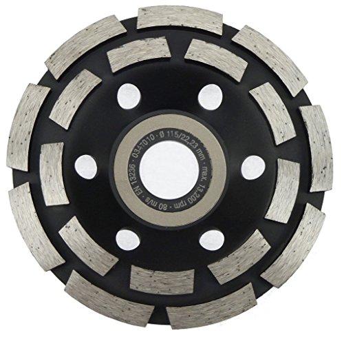 115 mm Diamant Schleiftopf Beton Granit Topfschleifer 18 Segmente Schleifteller