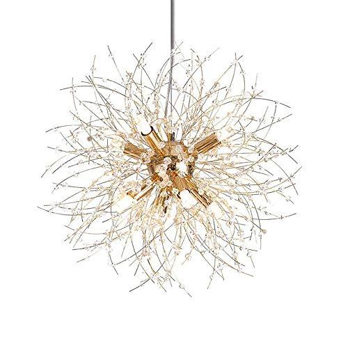 AI LI WEI prachtige lampen/Nordic minimalistische creatieve moderne bol LED goud kristal lamp geschikt voor uw restaurant slaapkamer bar ketting 100 cm hanger