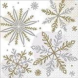 Amscan 502174 - Tovaglioli per bevande con fiocco di neve, 25 cm, 16 pezzi