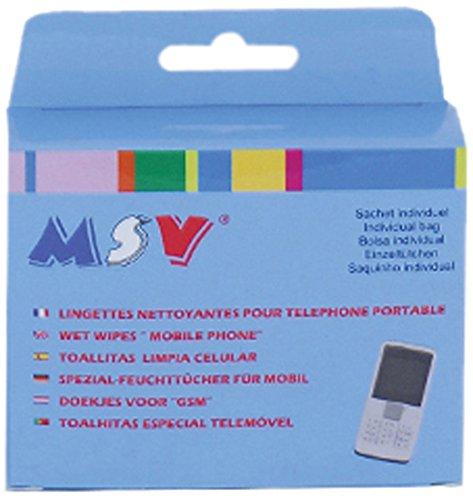 MSV 100381 Lot de 20 lingettes pour Portable, Viscose/Polyester, Blanc, 2 cm