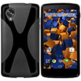 mumbi Hülle kompatibel mit LG Nexus 5 Handy Hülle Handyhülle, schwarz