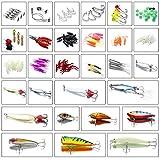 Recensione Homealexa Kit Esche da Pesca 123 Pezzi Attrezzatura Mista da Pesca Esche Artificiali Spinning Accessori da Pesca Set Lure Articoli da Pesca con Scatola Adatto per Pescatore Appassionati di Pesca