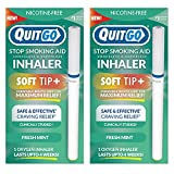 Stop Smoking Remedy, Smoke-Free Oxygen Inhaler, Chewable Mouth Grip to Help Curb Cravings, Quit Smoking Support, Satisfying Fidget Relief, Nicotine Free (Best Value - 2 Pack, Fresh Mint)