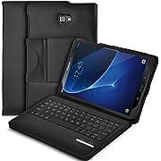 Galaxy Tab A 10.1 Keyboard case, IVSO Ultra-Thin PU Leather DETACHABLE Wireless Keyboard Stand Case/Cover for Samsung Galaxy Tab A SM-T580N/SM-T585N 10.1-inch 2016 Tablet(Black)