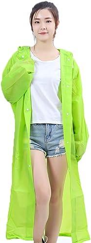 Hyuyi Randonnée imperméable Adulte de Mode pour Hommes et Femmes Poncho extérieur Transparent imperméable Long portable (Couleur   A, Taille   L)