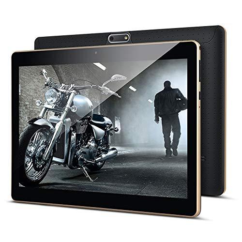 Tablet 10 Zoll, KUNWFNIX Tab T10 Android 8.1 Tablet PC mit 2 GB RAM 32 GB ROM, 128GB Erweiterbarer Speicher, Quad Core CPU, Dual Kamera/SIM 3G Tablets Unterstützung WiFi/GPS/Bluetooth (Black)