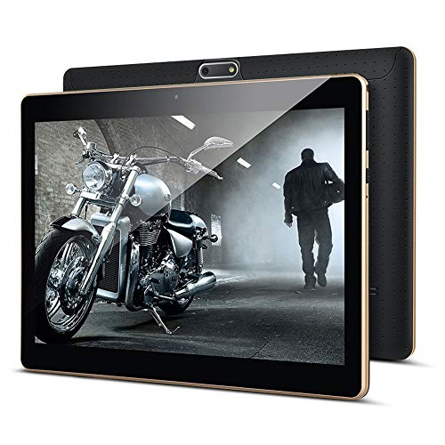 KUNWFNIX Tab T10 - Tablet de 10 pulgadas, Android 8.1, con 2 GB de RAM, 32 GB de ROM, 128 GB de memoria ampliable, CPU Quad Core, cámara dual, SIM 3G, tabletas, WiFi, GPS/Bluetooth, color negro