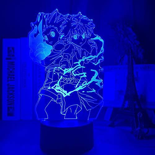 3D night light Gon and Killua Figure 3d Night Light Anime Hunter X Hunter Nightlight for Kid Bedroom Decor Lighting Child Gift HxH Lamp Bedside Birthday gifts for children