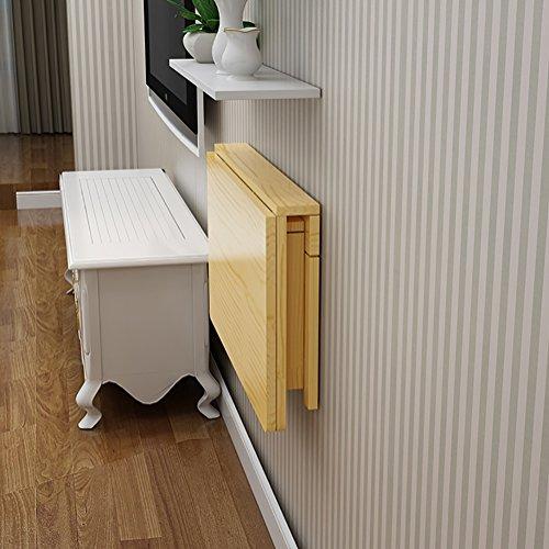 Wand-Klapptische Computer-Tische Esstische Massivholz Wandhänger Tische Schreibtisch (größe : 80 * 40cm)
