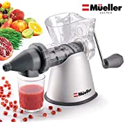 Mueller Masticating Slow-Juicer for-Celery, Wheatgrass, Kale, Spinach, and any other Leafy Greens, Live-Enzyme Cold Press Process and Easiest 5 minute Cleanup!