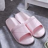 JFHZC Playa Zapatillas,Pareja de Sandalias y Pantuflas de PVC para el hogar, Use Pantuflas Antideslizantes de Suela Blanda Fuera del baño en Verano-Pink_36-37