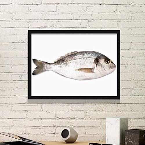 DIYthinker Ocean Fish Activiteit Voedsel Rood Eenvoudige Afbeelding Frame Art Prints Schilderijen Thuis Muursticker Gift