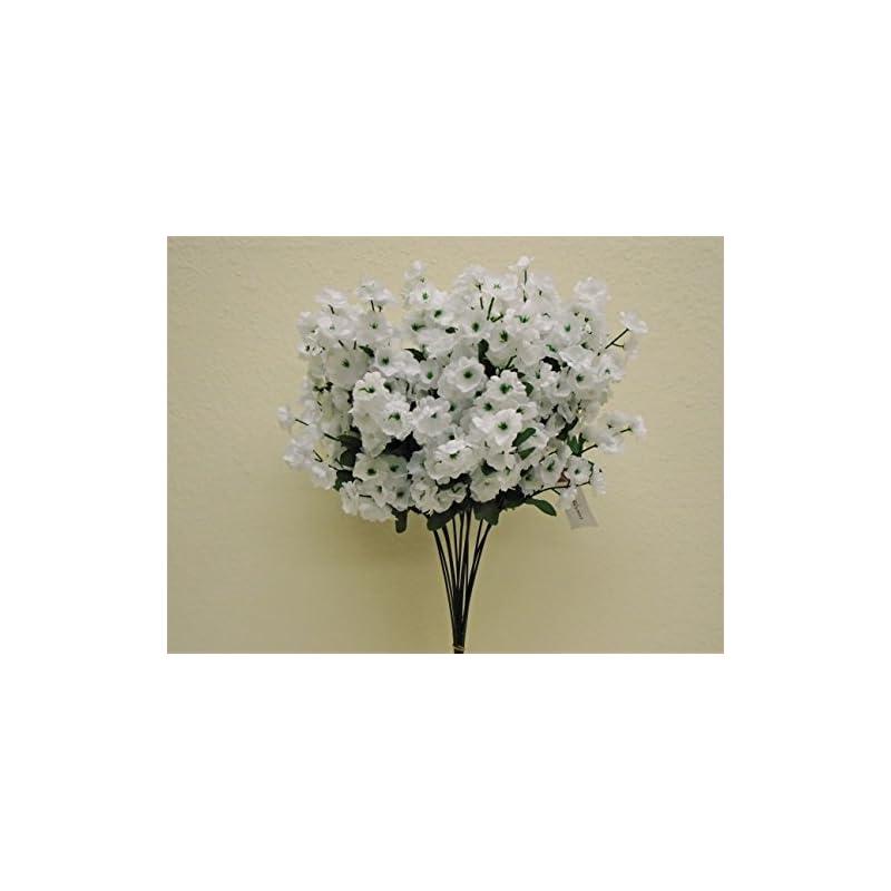 "silk flower arrangements 12 sprays baby breath gypsophila filler artificial silk flowers 15"" stem 331 white"