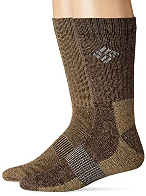 Columbia Men's Moisture Control Crew, brown, 10-13