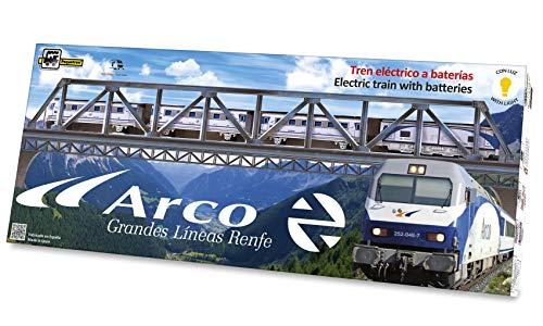 PEQUETREN PEQUETREN525Classic Arco Metallico Modello Treno con Luce e Ponte