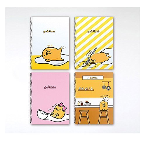 Sanrio Gudetama Lazy Egg A4 Cover College Ruled Notebook Note Pad Set of 4