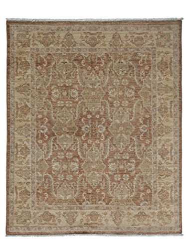 Solo Rugs Oushak Dana One of a Kind Hand Knotted Area Rug, Mocha, 4' 0