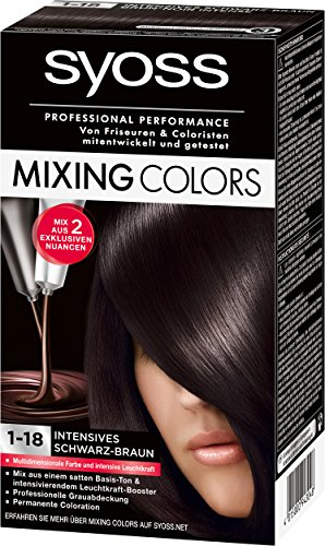Syoss Mixing Colors Coloration 1-18 Intensives Schwarz-Braun, 3er Pack (3 x 135 ml)